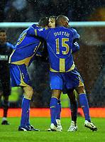 Fotball<br /> England<br /> Foto: Fotosports/Digitalsport<br /> NORWAY ONLY<br /> <br /> Niko Kranjcar (Portsmouth) celebrates his goal with team mates <br /> 01.11.08  Portsmouth  v Wigan Athletic Premier League