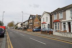 © Licensed to London News Pictures. 05/04/2019. London, UK.  A view of Hoe Street in Walthamstow where a police forensic tent was seen after a man was assaulted on Tuesday 2nd April. The 60 year old man was found suffering from a head injury and was taken to an east London hospital where he died on Wednesday 3rd April.  Photo credit: Vickie Flores/LNP