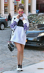 September 15, 2016 - New York, New York, United States - Model Bella Hadid arrives at her sister Gigi's East Village apartment on September 15 2016 in New York City  (Credit Image: © Curtis Means/Ace Pictures via ZUMA Press)