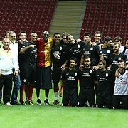 NBA basketball player Kobe BRYANT (C) and Galatasaray's players seen durig their training at TT arena at Istanbul, Turkey on 25 September 2011. Photo by TURKPIX