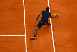 June 1, 2018 - Paris, U.S. - PARIS, FRANCE  - JUNE 01 JUN 01: GAEL MONFILS (FRA) during the French Open on June 01, 2018 at Stade Roland-Garros in Paris, France. (Photo by Chaz Niell/Icon Sportswire) (Credit Image: © Chaz Niell/Icon SMI via ZUMA Press)