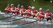 Henley on Thames, England, United Kingdom, 3rd July 2019, Henley Royal Regatta, Heat of the Princess Elizabeth Challenge Trophy,  St Pauls School,  concord, USA, move away from the start, on Henley Reach, [© Peter SPURRIER/Intersport Image]<br /> <br /> 11:40:26 1919 - 2019, Royal Henley Peace Regatta Centenary,