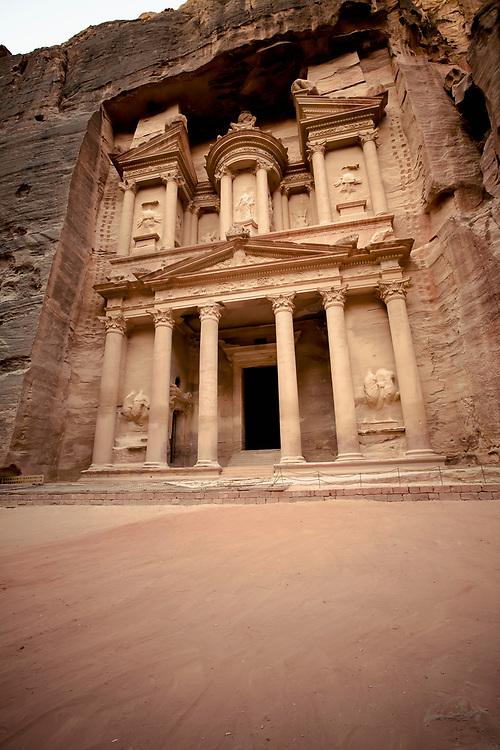 "One of the ""Seven Wonders of the World"" Al-Khazneh or The Treasury, Petra, Jordan"