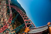 Cliffhanger Roller Coaster (the highest elevation roller coaster in North America), Glenwood Caverns Adventure Park, Glenwood Springs, Colorado USA