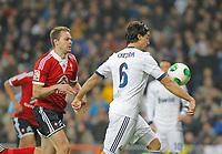Fotball<br /> Spania<br /> 09.01.2013<br /> Foto: Cordon Press/Digitalsport<br /> NORWAY ONLY<br /> <br /> Copa del Rey<br /> Real Madrid v Celta de Vigo <br /> Sami Khedira y Vadim Demidov