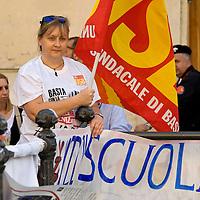 Manifestazione dei lavoratori della scuola contro il DDL scuola