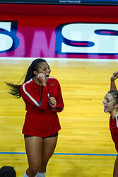 BLOOMINGTON, IL - September 14: Kaylee Martin during a college Women's volleyball match between the ISU Redbirds and the University of Central Florida (UCF) Knights on September 14 2019 at Illinois State University in Normal, IL. (Photo by Alan Look)