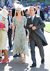 Tom Inskip arrives at St George's Chapel at Windsor Castle for the wedding of Meghan Markle and Prince Harry.