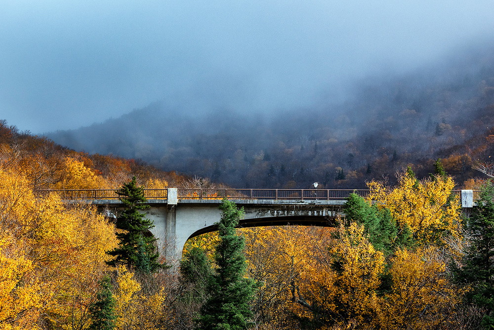 Franconia Notch State Park in the White Mountain National Forest, New Hampshire, USA.
