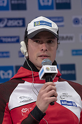March 1, 2019 - Tokyo, Tokyo, Japan - Hug Macel (SUI) Wheelchair Athletes speaks during a press conference ahead of the Tokyo Marathon in Tokyo on March 1, 2019. The annual Tokyo Marathon will be held on March 3. (Credit Image: © Alessandro Di Ciommo/NurPhoto via ZUMA Press)