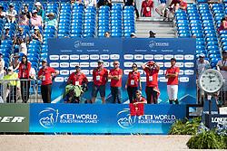 Team Switzerland, Kistler Andy,; Janika Sprunger, Steve Guerdat<br /> World Equestrian Games - Tryon 2018<br /> © Hippo Foto - Dirk Caremans<br /> 20/09/2018