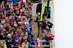 Jernej DAMJAN of Slovenia signing autographs during Flying Hill Individual First Round at 2st day of FIS Ski Jumping World Cup Finals Planica 2011, on March 17, 2011, Planica, Slovenia. (Photo By Matic Klansek Velej / Sportida.com)
