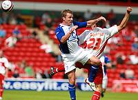 Photo: Mark Stephenson.<br /> Walsall v Birmingham City. Pre Season Friendly. 28/07/2007.Birmingham's Gary McSheffrey (L) and Walsall's  Paul Boertien