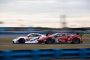 January 21-24, 2021. IMSA Weathertech Series. ROAR before Daytona. #63 Scuderia Corsa Ferrari 488 GT3, GTD: Ryan Briscoe, Marcos Gomes,  Ed Jones, Bret Curtis, #79 WeatherTech Racing, Porsche 911 RSR-19 GTLM, Cooper MacNeil, Gianmaria Bruni, Richard Lietz, Kevin Estre