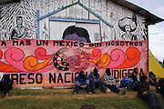 "Zapatista members conmemorate the ""Digna Rabia"" festival in Oventik, Chiapas. December 31st, 2008, January 1st, 2009. (Photo: Prometeo Lucero)"