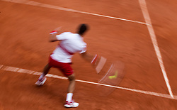 May 30, 2018 - Paris, Ile-de-France, France - Novak Djokovic of Serbia returns the ball to Jaume Munar of Spain during the second round at Roland Garros Grand Slam Tournament - Day 4 on May 30, 2018 in Paris, France. (Credit Image: © Robert Szaniszlo/NurPhoto via ZUMA Press)