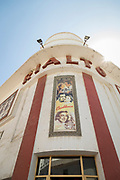 Low angle view of cinema in Casablanca, Morocco