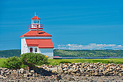 Lighthouse on St.Mary's Bay , Gilbert's Cove, Nova Scotia, Canada
