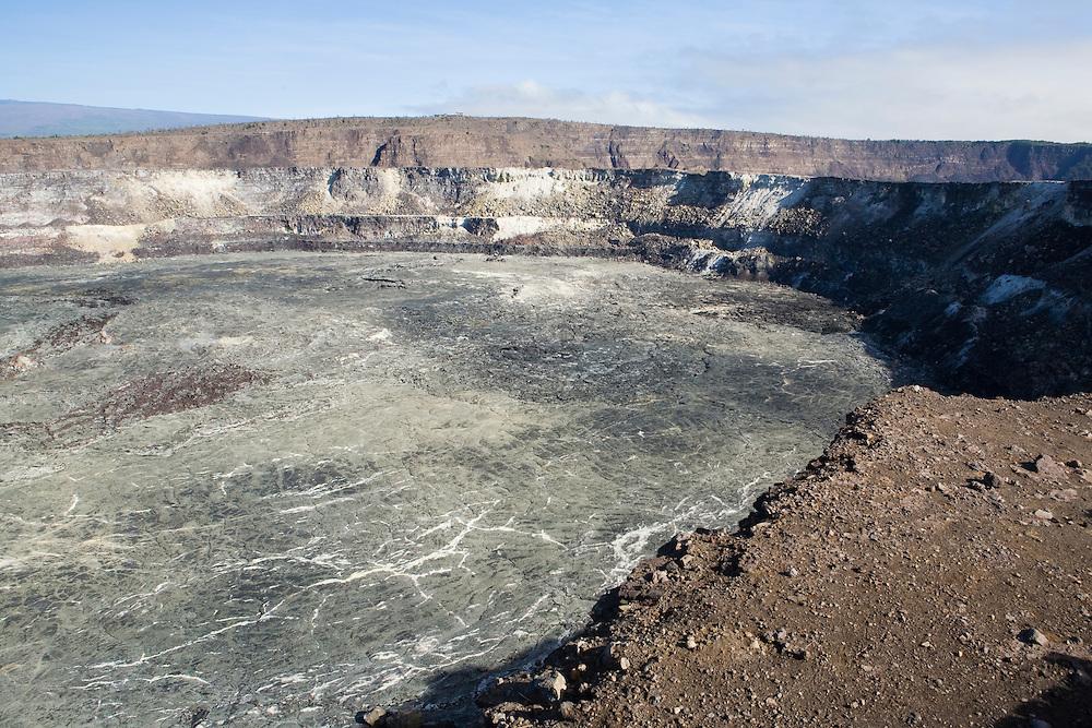The Halema'uma'u Crater in the Kilauea Caldera, Hawai'i Volcanoes National Park