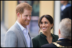 October 3, 2018 - Bognor, West sussex, United Kingdom - Prince Harry and Meghan Markle, The Duke and Duchess of Sussex, visit the University of Chichester Tech Park, in bognor West Sussex on their first official visit to Sussex. (Credit Image: © Ben Stevens/i-Images via ZUMA Press)