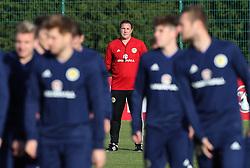 Scotland interim manager Malky Mackay during the training session at Heriot Watt University, Oriam.