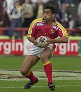 © Intersport Images .Photo Peter Spurrier.12/05/2002.Sport - Rugby League.London Broncos vs Widnes Vikings.Richie Barnett....