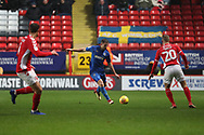 AFC Wimbledon defender Ben Purrington (3) starting an attack during the EFL Sky Bet League 1 match between Charlton Athletic and AFC Wimbledon at The Valley, London, England on 15 December 2018.
