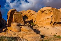 Dijinn blocks, Petra Archaeological Park (a UNESCO World Heritage Site), Petra, Jordan.