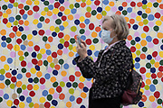Mcc0097118 . Daily Telegraph<br /> <br /> DT News<br /> <br /> <br /> Spot Painting, 1986<br /> <br /> Damien Hirst end of a century exhibition. Major solo of early works ahead of the opening on wednesday .<br /> <br /> London 6 October 2020