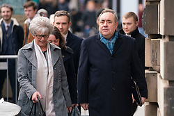 Edinburgh, Scotland, UK. 13 March, 2020. Alex Salmond leaves the High Court in Edinburgh on day five of his trial. Iain Masterton/Alamy Live News