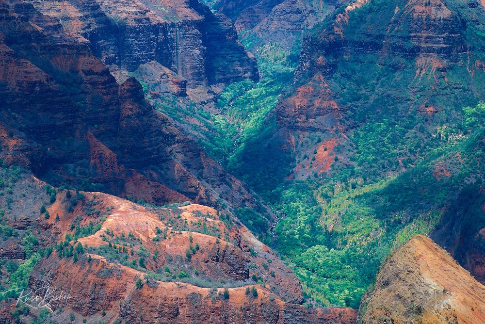 Evening light in Waimea Canyon (Grand Canyon of the Pacific), Waimea Canyon State Park, Kauai, Hawaii