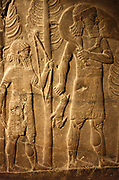 Part of a door-sill. Assyrian, approximately 710-705 BC from the royal palace in Khorsabad. Contains part of an inscription about Sargon II and his palace.