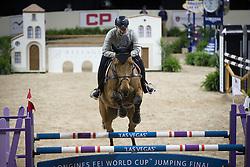 Beletsky Vladimir, (RUS), Rocketman 2 <br /> Training session<br /> Longines FEI World Cup™ Jumping Finals <br /> Las Vegas 2015<br />  © Hippo Foto - Dirk Caremans<br /> 15/04/15