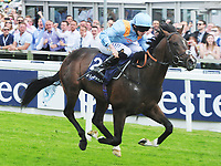 Flat Horse Racing - 2017 Investec Derby Festival - Ladies Day<br /> <br /> Ryan Moore on De Bruyne horse wins the 14:00 Investec Woodcote Stakes, at Epsom Racecourse.<br /> <br /> COLORSPORT/ANDREW COWIE