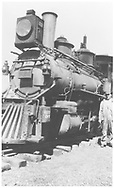 RGS 2-8-0 #17 3/4 front view.  #17 is partially cropped.<br /> RGS