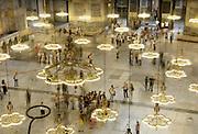 Turkije, Istanbul, 4-6-2011De Aya Sofia, agia sophia, in sultanahmet. De grootste koepelkerk ter wereld na de Sint Pieter werd na de verovering van Constantinopel door de mohamedanen omgebouwd tot een moskee. Istanbul, vroegere hoofdstad van het Ottomaanse rijk.Foto: Flip Franssen