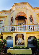 Colonial style building in the town of Yauco Puerto Rico