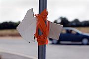improvised direction arrow