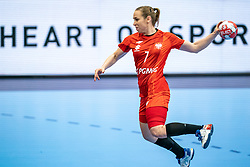 Aneta Labuda of Poland in action during the Women's EHF Euro 2020 match between Poland and Romania at Sydbank Arena on december 05, 2020 in Kolding, Denmark (Photo by RHF Agency/Ronald Hoogendoorn)