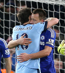 Jan. 31, 2015 - London, United Kingdom - Chelsea's John Terry hugs Manchester City's Frank Lampard at the final whistle..Barclays Premier League - Chelsea vs Manchester City - Stamford Bridge - England - 31st January 2015 - Picture David Klein/Sportimage.(Credit Image: © Sport Image/Sportimage/Cal Sport Media/ZUMAPRESS.com)