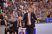 DESCRIZIONE : Milano Lega Basket Serie A 2013-2014 EA7 EMPORIO ARMANI OLIMPIA MILANO - ACQUA VITASNELLA CANTU'<br /> GIOCATORE : Luca Banchi<br /> CATEGORIA : ESULTANZE<br /> SQUADRA : EA7 EMPORIO ARMANI OLIMPIA MILANO<br /> EVENTO : Campionato Lega Basket Serie A 2013-2014<br /> GARA : EA7 EMPORIO ARMANI OLIMPIA MILANO - ACQUA VITASNELLA CANTU' <br /> DATA : 06/04/14 <br /> SPORT : Pallacanestro <br /> AUTORE : Agenzia Ciamillo-Castoria/L.sonzogni <br /> Galleria : Lega Basket Serie A 2013-2014