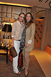 Left to right, ELAINE SULLIVAN and ZOE DE GIVENCHY at a champagne breakfast hosted by Carolina Gonzalez-Bunster and TOD's in aid of the Walkabout Foundation held at TOD's, 2-5 Old Bond Street, London on 9th May 2013.