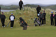 Brandon St John (Portmarnock) the 18th during Round 3 of the Ulster Boys Championship at Donegal Golf Club, Murvagh, Donegal, Co Donegal on Friday 26th April 2019.<br /> Picture:  Thos Caffrey / www.golffile.ie