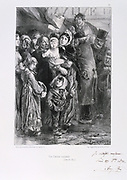 Franco-Prussian War 1870-1871.  Siege of Paris 19 Sept 1870-28 Jan 1871. A national  soup kitchen in Paris, January 1871. From a series of lithographs  by Clement August Andrieux on the Gardes Nationales.  Food Shortage Hunger