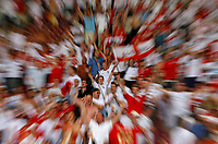 Photo: Glyn Thomas.<br />England v Ecuador. 2nd Round, FIFA World Cup 2006. 25/06/2006.<br /> England fans celebrate.