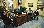 President William Jefferson Clinton's first day in office.<br />Photo by Dennis Brack
