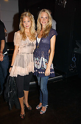 Left to right, MARISSA MONTGOMERY and POPPY DELEVINGNE at a party to celebrate Zandra Rhodes's return to London Fashion week and the launch of a limited edition of M.A.C makeup at Silver, 17 Hanover Square, London W1 on 20th September 2006.<br /><br />NON EXCLUSIVE - WORLD RIGHTS