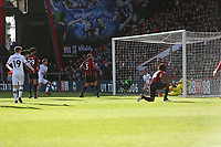 Football - 2019 / 2020 Premier League - AFC Bournemouth vs. Chelsea<br /> <br /> Marcos Alonso of Chelsea follows up the ball bouncing off the crossbar to fire home to open the scoring during the Premier League match at the Vitality Stadium (Dean Court) Bournemouth  <br /> <br /> COLORSPORT/SHAUN BOGGUST
