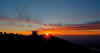 Sunset over Haleakala Satellite Tracking Station from Pu'U'Ula'Ula peak in Haleakala National Park, Maui Hawaii. Image taken with a Nikon D3x and 24 mm f/3.5 PC-E lens (ISO 100, f/16, 1/10 sec). HDR with Photomatix Pro (5 images)