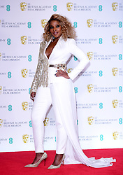 Mary J. Blige in the press room at the 72nd British Academy Film Awards held at the Royal Albert Hall, Kensington Gore, Kensington, London.